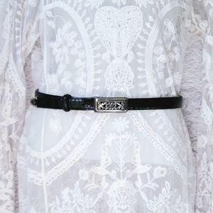 Vintage Croc Leather Brighton Belt